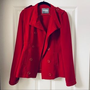 Red Structured Jacket